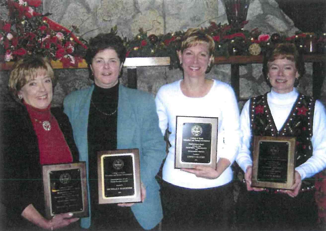 (from left) Beverly Brosnan, Michelle Marchesse, Lynne McGuirt, Susan McGhee