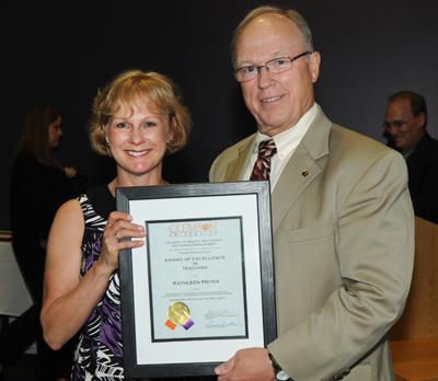 Award of Excellence in Teaching - Kathleen Meyer, M.S.