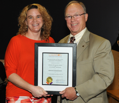 Award of Excellence in Academic Advising - Kristin Goodenow, Director, CBSHS Academic Advising Center