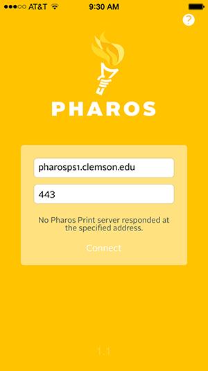 Pharos Print App initial configuration