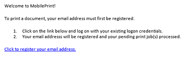 registration email