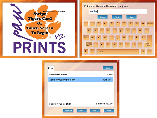 PawPrints release station prompts for username and the job listing