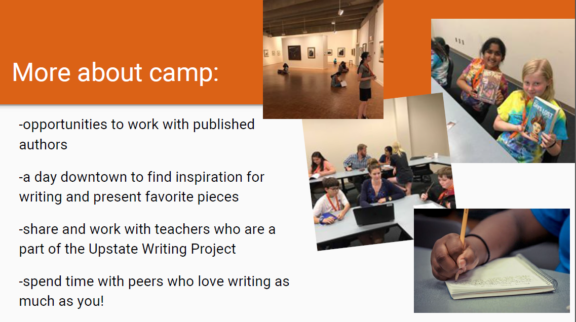 Upstate Writing Camp