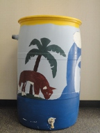 rain barrel by Barnes Street