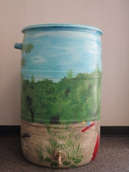 Rain barrel by Holly Beaumier