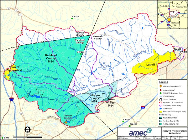 Twenty-five Mile Creek Watershed Map